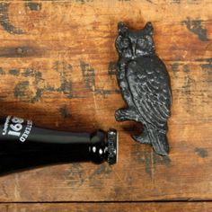Cool Bottle Openers #brown #black #iron #rust #owl #bird Owl Bottle Opener - $14