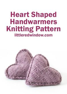 Adorable and cozy, this heart shaped handwarmer knitting pattern makes the perfect handmade gift! Use this adorable, cozy heart shaped handwarmer knitting pattern (or use them as sachets!) this winter, they make a perfect gift! Beginner Knitting Patterns, Knitting For Kids, Knitting For Beginners, Knitting Stitches, Knitting Ideas, Free Knitting, Simple Knitting, Easy Knitting Projects, Crochet Projects