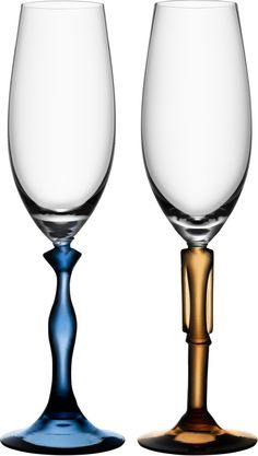 Kjell Engman's Two of Us champagne glasses celebrate love and the joy of having someone to share your life with, someone who stands by your side. Happiness to share with the whole world.