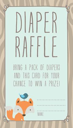 Hey, I found this really awesome Etsy listing at https://www.etsy.com/listing/216615245/woodland-baby-shower-diaper-raffle-card