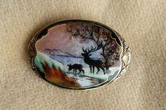 Gustav Hellstrom scenic brooch