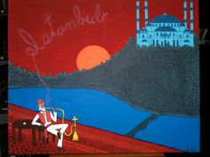 """Istanbul""  The Lonesome Traveler Series Acrylic on canvas H 20""  W 24""  for purchase contact JoeyCalveri@gmail.com"