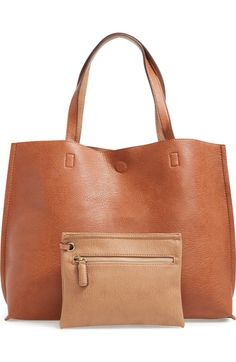 Street Level Reversible Faux Leather Tote & Wristlet available at #Nordstrom