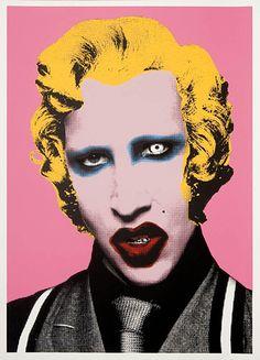 Marilyn Manson, by Mr. Brainwash.