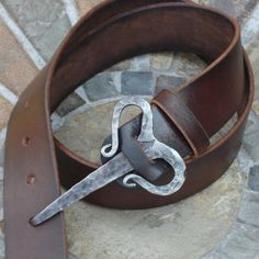 Viking Buckle Belt, custom made- this doubles as a jourab crochet hook