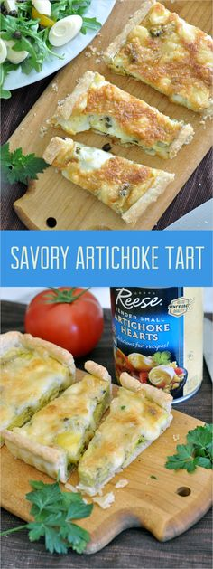 Make it a brunch to remember with this irresistible, savory tart made with tender @reesespecialty artichoke hearts, a sprinkle of flavorful capers and lots of cheese #stepoutofyourcomfortfood #ad