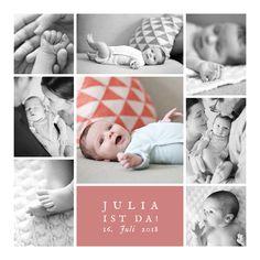 Seit der Geburt Ihres Babys haben Sie bestimmt schon viele schöne Momente erlebt. Mit der Geburtskarte Erinnerung 8 Fotos können Sie auf eine wunderschöne ...