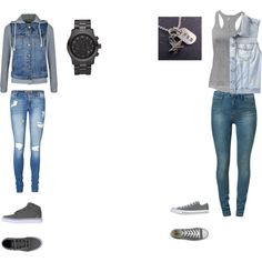 """2 outfits the last of us : Riley inspired looks"" by fangirlinspace on Polyvore"
