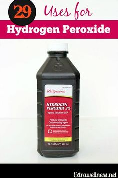 29 Creative Everyday Uses For Hydrogen peroxide.. Lots of household, health, cleaning uses with descriptions that I don't know!