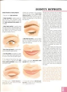 audrey hepburn makeup how-to Makeup tutorials you can find here…