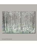View product Graham & Brown Blue watercolour woods canvas wallart