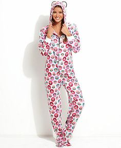Paul Frank Sparkle Ice Hooded Footed Pajamas Women - Bras 06c875029