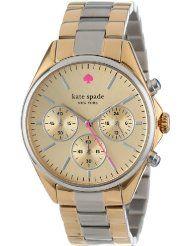 "kate spade new york Women's 1YRU0200 Two Tone ""Seaport"" Chronograph Dress Watch. http://tvreviewsstore.com/kate-spade-ladies-watches"