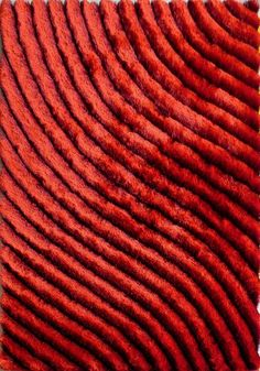 Our plush hand carved and tufted 303 Red shag rug features a modern design with a vibrant color palette, cotton backing, and is made of Polyester. Navy Blue Area Rug, White Area Rug, Wool Area Rugs, Beige Area Rugs, 5x7 Rugs, Thing 1, Striped Rug, Geometric Rug, Carpet Design