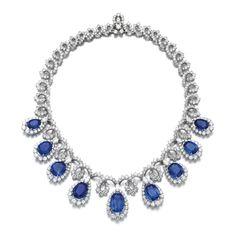 Modern Jewelry, Luxury Jewelry, High Jewelry, Vintage Jewelry, Sapphire Necklace, Sapphire Jewelry, Diamond Jewelry, Real Diamond Necklace, Royal Jewelry