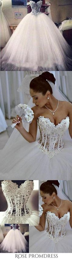 Buy Ball Gown Lace Pearl Beads Unique Arabic Sweetheart White Tulle Princess Wedding Dress in uk.Shop our beautiful collection of unique and convertible long Prom dresses from rosepromdress,offers long bridesmaid dresses for women in the UK. Chic Wedding Dresses, Best Prom Dresses, Cheap Prom Dresses, Long Bridesmaid Dresses, Homecoming Dresses, White Tulle, Rose Wedding, Ball Gowns, Princess