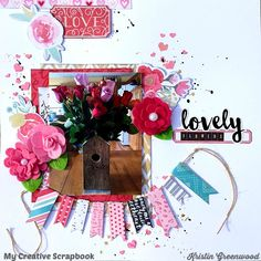 Lovely+**My Creative Scrapbook February 2016 Main kit. We R Memory Keepers - Crush Collection