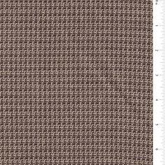 Brown  Beige Wool Tweed Suiting FabricThis light to medium weight tweed fabric…