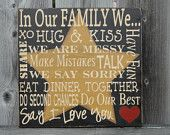 PRIMitIVE in Our Family Rustic SIGN