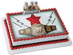 Decopac WWE Championship Belt Cake Decoration Set - One WWE Championship Belt Cake Kit. Celebrate a wrestler's birthday like a champ with our WWE Championship Belt Cake Kit. This 2 PC kit includes a WWE Championship Belt piece, and a Wrestling Cake, Wrestling Party, Wwe Birthday, 6th Birthday Parties, Birthday Ideas, Birthday Stuff, Cake Supplies, Party Supplies, Wwe Cake