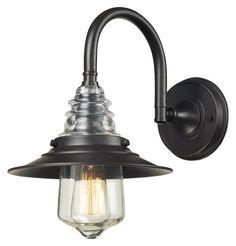 Landmark 66812-1 Insulator Glass Vinteage 14 Inch Tall Oiled Bronze Wall Sconce Lighting - LAN-66812-1 $198