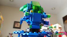 My son's green/blue robot.