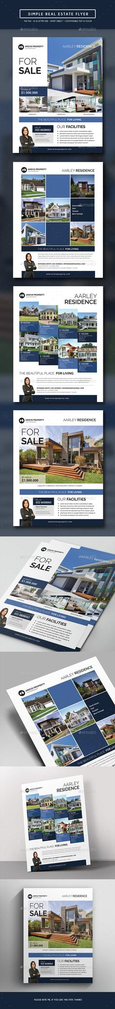 Simple Real Estate Flyer Template PSD. Download here: http://graphicriver.net/item/simple-real-estate-flyer/14837759?ref=ksioks