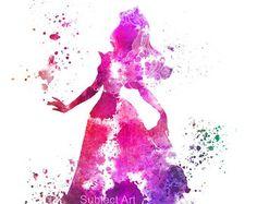 Aurora Sleeping Beauty ART PRINT illustration by colormykidsroom