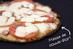 PANELATERAPIA - Blog de Culinária, Gastronomia e Receitas: Pizza com Massa de Couve-flor