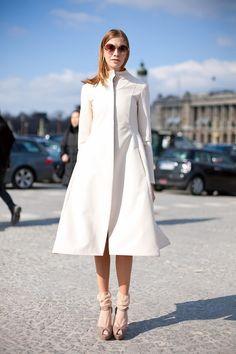 Elena Perminova Street Style Inspiration #blanc #blanccomm @blanccomm