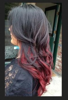 Thinking about doing this red ombré hair color when I'm sick of just being all red