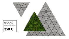 TRIGON concrete tiles with moss. Moss Wall, Concrete Tiles, Composition, Concrete Roof Tiles, Musical Composition