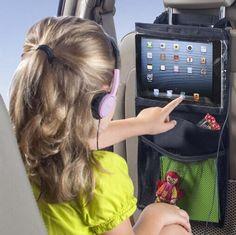Car Seat Organizer with iPad Bag and Diaper Bag