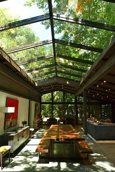Garden lighting modern glass roof ideas The Effective Pictures We Offer You About Modern Garden seating A quality picture can tell you many things. You can find the most beautiful pictures Home Interior Design, Exterior Design, Interior And Exterior, Home Roof Design, Interior Modern, Interior Ideas, Plans Architecture, Architecture Design, Architecture Interiors