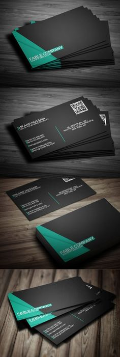 Buy Clean Corporate Business Card Design by The_Mixer on GraphicRiver. Clean Corporate Business Card Design Details inch Business Card with bleed and trim Mark. Corporate Design, Business Design, Creative Business, Branding Design, Branding Ideas, Black Business Card, Modern Business Cards, Professional Business Cards, Corporate Business