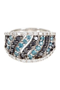Black & White Diamond Wave Cutout Ring - 1.50 ctw on HauteLook / / Nordstrom Rack / / I'd rock it.