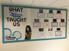 What Disney Channel Taught Me RA bulletin board - Dez Ka August Bulletin Boards, Disney Bulletin Boards, College Bulletin Boards, Interactive Bulletin Boards, Winter Bulletin Boards, Bulletin Board Display, Disney Channel, Ra Themes, Ra Bulletins