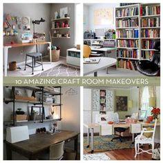 Roundup: 10 Amazing Craft Room Makeovers