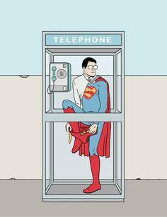 Superman by David Sánchez @amorlangosta