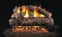 Home :: Gas Logs :: Real Fyre :: Vented Gas Logs :: 18 inch :: Real Fyre Rustic Oak Designer Log Sets - Gas Fireplace Logs, Gas Logs, Fireplaces, Steel Reinforcement Bars, Gas Log Burner, Wood Sample, Real Fire, Wood Burning Fires, Little Cabin