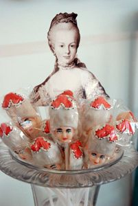 MARIE ANTOINETTE HEAD POP  Our cherry flavored hard candy lollipop is the perfect reminder that there are worse things in life to lose your head over.
