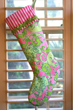 Lilly Pulitzer Christmas Stocking