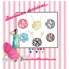 Would LOVE to win this !!  :))    Pin me to Win me!  Just re-pin and click here to tell us you did. http://www.facebook.com/swellcaroline/app_204684816209053  Winner chosen next Monday, May 14th!   #Monogram #Preppy #Giveaway