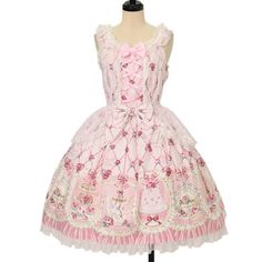 Worldwide shipping available ♪ Angelic Pretty ☆ ·. . · ° ☆ Salon de thé Rose jumper skirt https://www.wunderwelt.jp/products/w-13359 IOS application ☆ Alice Holic ☆ release Japanese: https://aliceholic.com/ English: http://en.aliceholic.com/