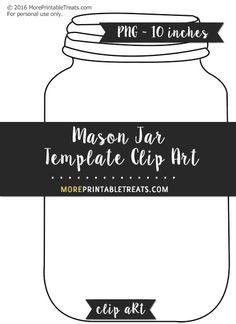 Free Mason Jar Template - Clipart