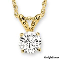 PARIKHS Round Cut Diamond Solitaire Pendant Premium Quality in 14k White & Yellow Gold (G-H color, SI1 clarity) #Diamond Necklace #fashion #style #shopping - Fashion Jewelry - http://ijewelryfashion.com/parikhs-round-cut-diamond-solitaire-pendant-premium-quality-in-14k-white-yellow-gold-g-h-color-si1-clarity