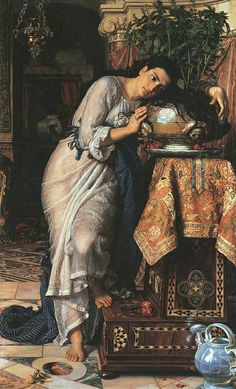 William Holman Hunt (1827-1910): Isabella and the Pot of Basil,