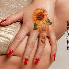 Small Sunflower Tattoo Design...