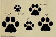607 - Cat Prints-cat stencil kitty tracks prints paw