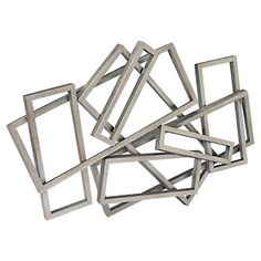 Show details for Metal Rectangles Wall Decor